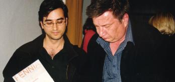 Aki Kaurismäki con José Luis Muñoz M.